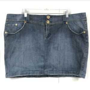 Torrid Mini Jean Skirt Size 20 Distressed Blue